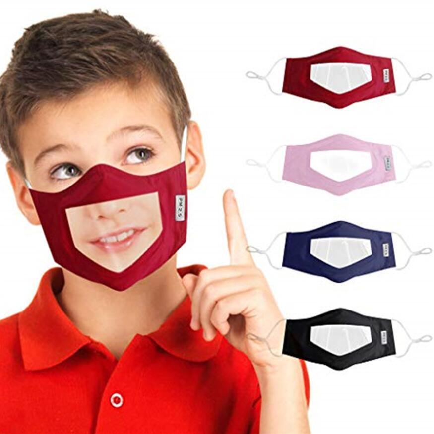 Camouflage sordomuto maschera di protezione maschera trasparente Bocca Finestra antipolvere per Mask Sordi Lip Reading Bocca con Loops regolabile per l'orecchio