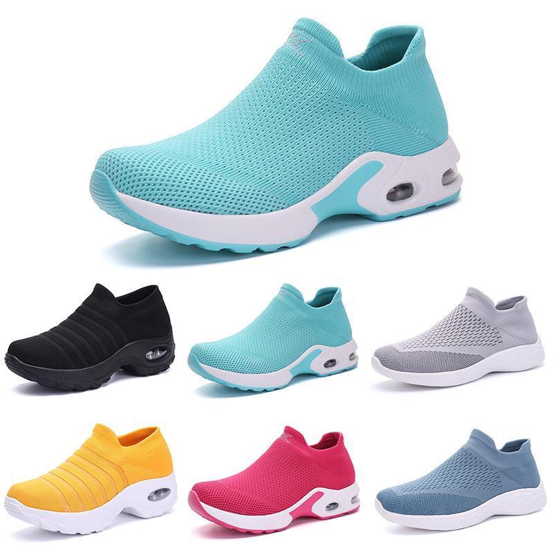 chaussures nouvelles chaussettes mode casual hommes luxe design femmes respirant engobe noir sur la taille des sports de plein air formateurs hommes 36-44 de color16