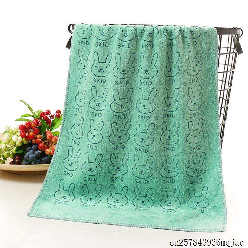 50pcs Rabbit Children Face Towel Bathroom Towels Microfiber Hair Hand Towels