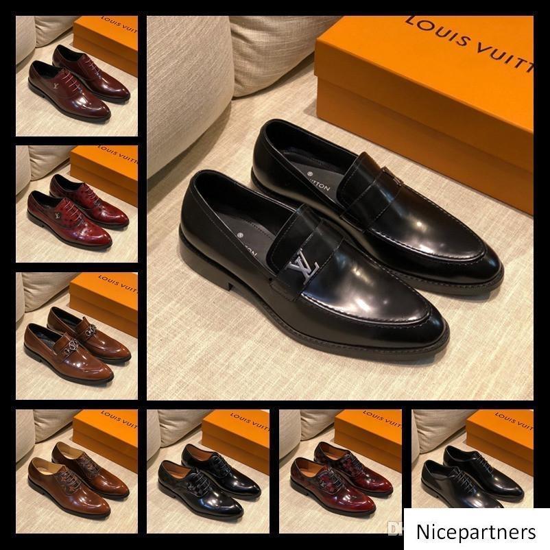 A1 52 Modell-Partei-Hochzeit Kleid Greggo Orlato Wohnung, Mode-rote untere Oxfords Schuhe, Outdoor-Men Casual-Walking-Schuhe