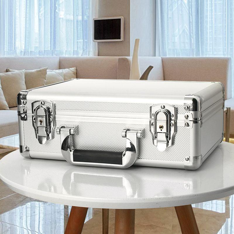 Алюминиевый полет чехол для переноски инструмент портфель путешествия камера ящик для хранения с пеной