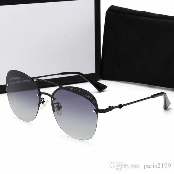 Alta qualità 2019 nuova signora moda piastra telaio ape occhiali da sole polarizzati uomini donne occhiali da sole di colore diamante occhiali UV400 Eyewear