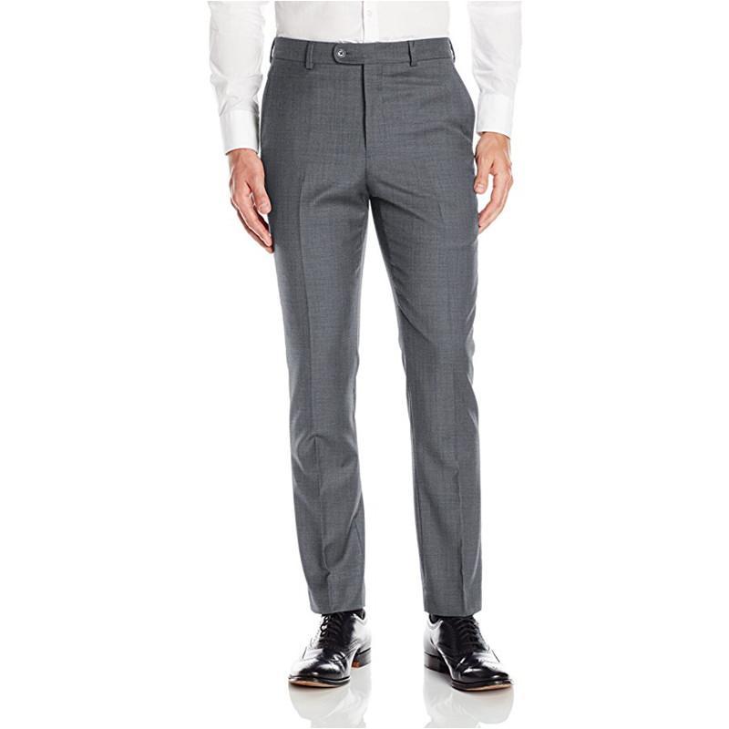 Custom Made Açık Gri Erkek Takım Elbise Pantolon Pants Erkek Casual Uzun Pantolon Slim Fit Düz Onayla Bel Pantolon Elbise