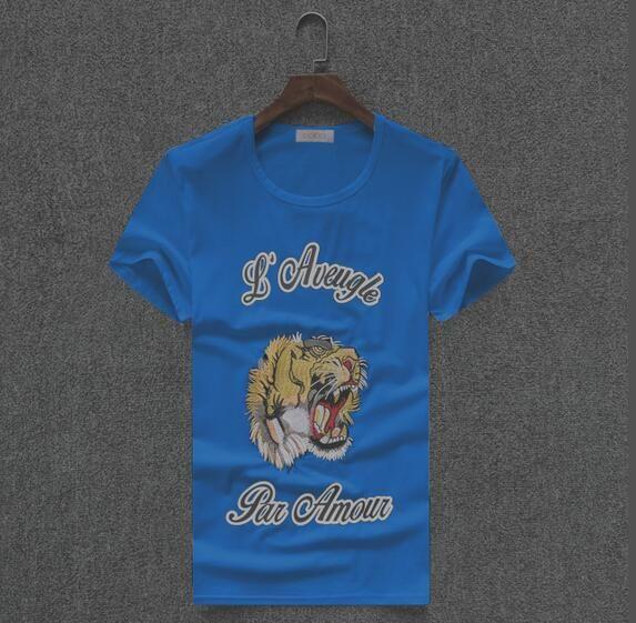 Diseñador de camisetas para hombre ropa marca tops camiseta de moda de verano marea Braned letras impresas lujo hombres camisa M-3XL