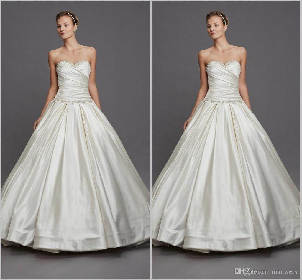 Pnina Tornai 2019 Wedding Dresses: 2019 Pnina Tornai Satin Wedding Dresses Vintage Sweetheart