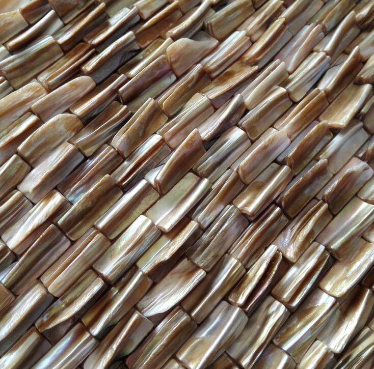Tile Natural Shell Mosaic Oyster Madrepérola Cozinha Backsplash Shower Tile Herringbone
