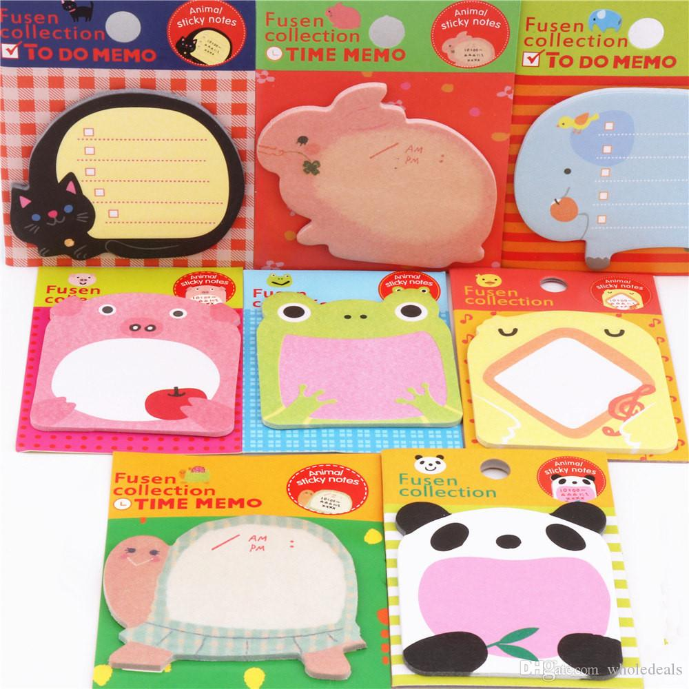 6pcs Charming 070 Serie di Animale Memo PAD PAT Sticky Notes Bookmark Point It Adesivo Carta Office Scuola materna forniture UUFJD