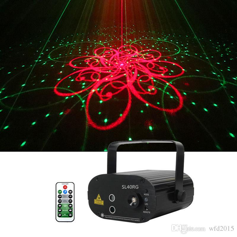 Mini 3Len 40 RG Patterns Laser Projector Stage Equipment Light 3W Blue LED Mixing Effect DJ KTV Show Holiday Laser Stage Lighting SL40RG
