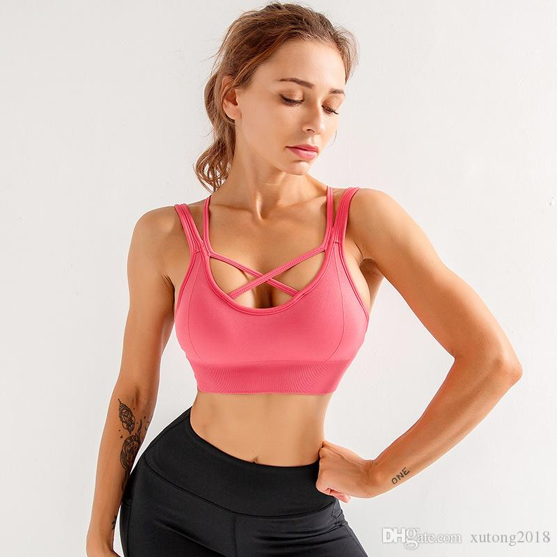 Soutien-gorge sans couture dos nu sport Yoga Débardeurs Liberté Bh Brassiere Sport Femme Sous Active Wear biustonosz sportowy ginástica