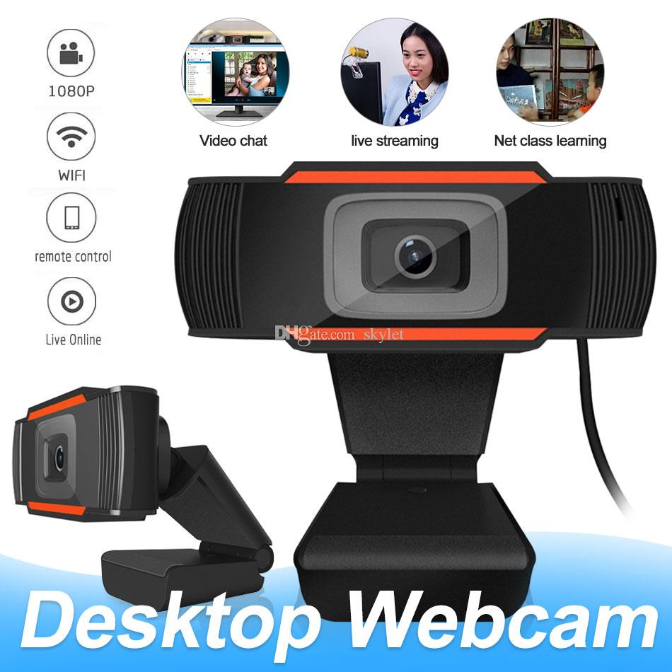 Webcams Camera Full HD 1080P Webcams with Microphone Video Call for PC Laptop with Retail Box