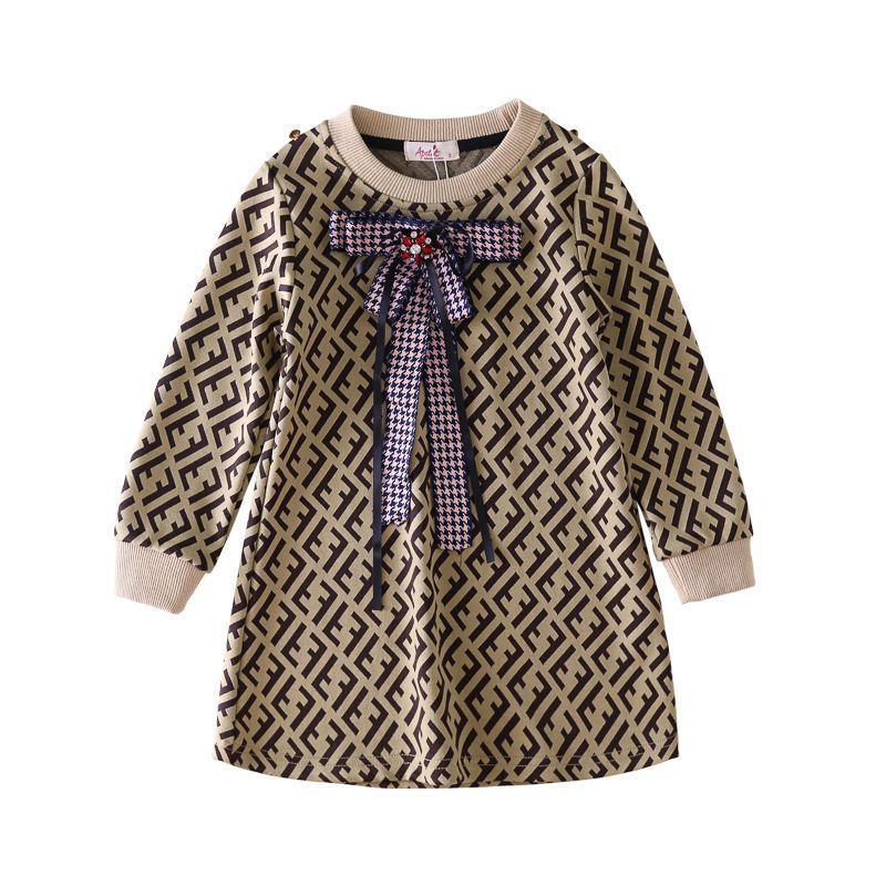 Meninas vestidos de marcas de moda Vestidos / vestido de meninas Hot Sale manga curta Hot Venda Verão 100% algodão T-Shir BH66