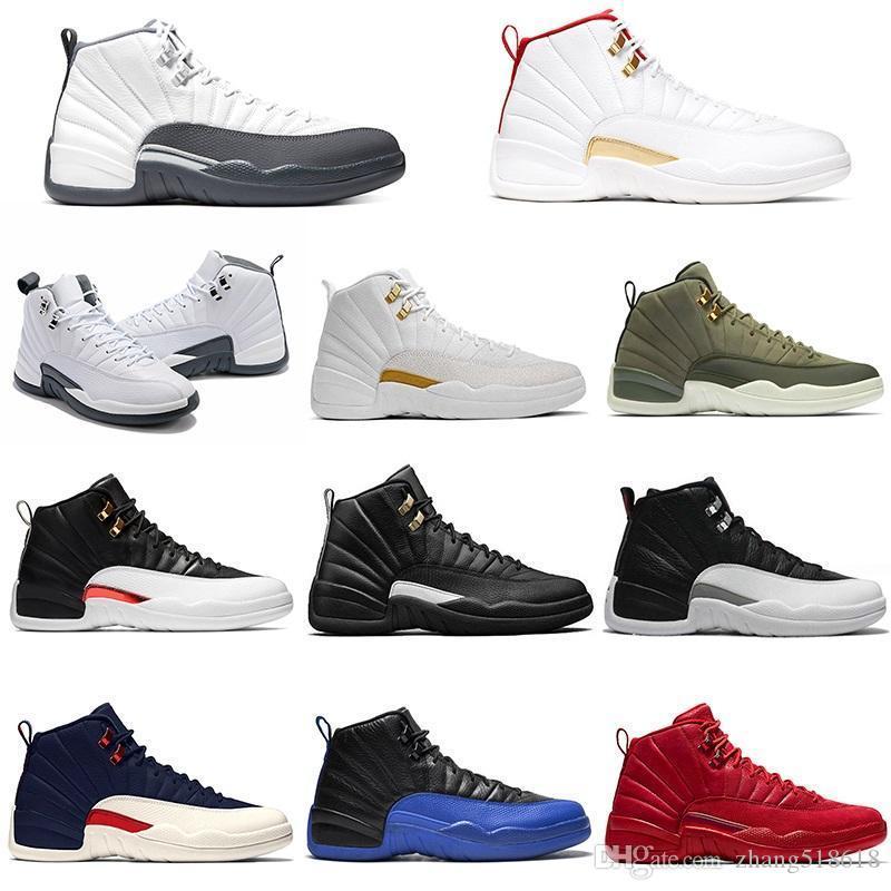 12 мужская баскетбольная обувь 12s белый серый полночь черный обратный такси мужские размеры 41-47 тренер спортивные кроссовки онлайн продажа Бесплатная доставка