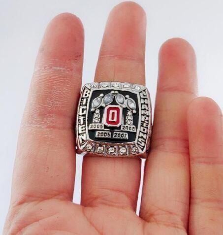 commémorent bien gros anneaux Ohio State Buckeyes 2008 Football Championnat National Anneau Souvenir Hommes Fan cadeau Drop Shipping