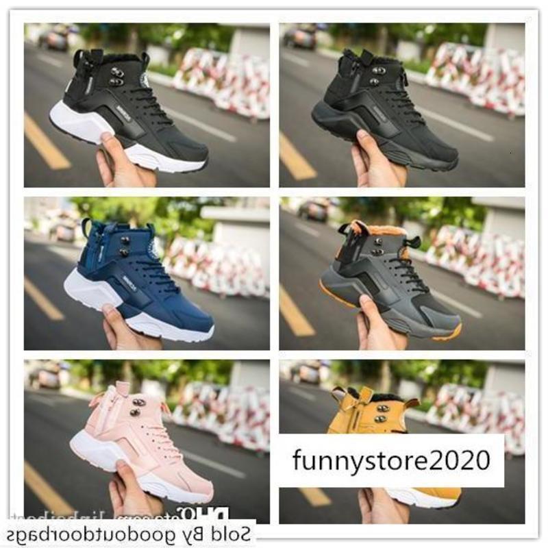 New Huarache 6 X Airs Acronyme Ville MID en cuir High Top Huaraches Run Hommes Baskets femme Chaussures de course Designer Sneakers Taille 5,5-11