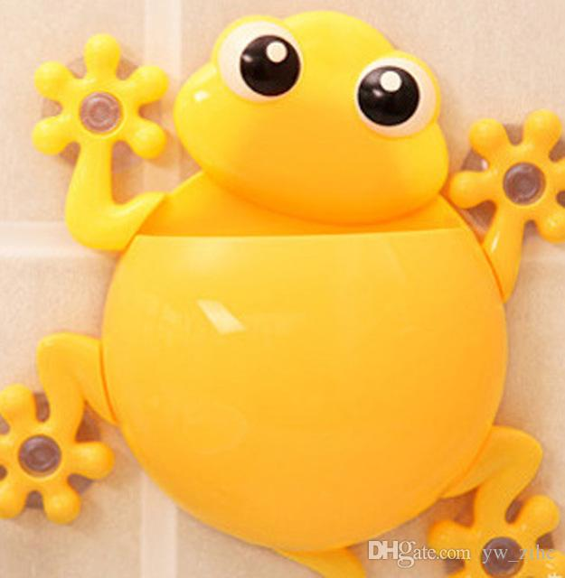 Cartoon Sucker Gecko Toothbrush Holder Wall Suction Hook Tooth Brush Holder Home Decor For Kids Bathroom Accessories for wh0106