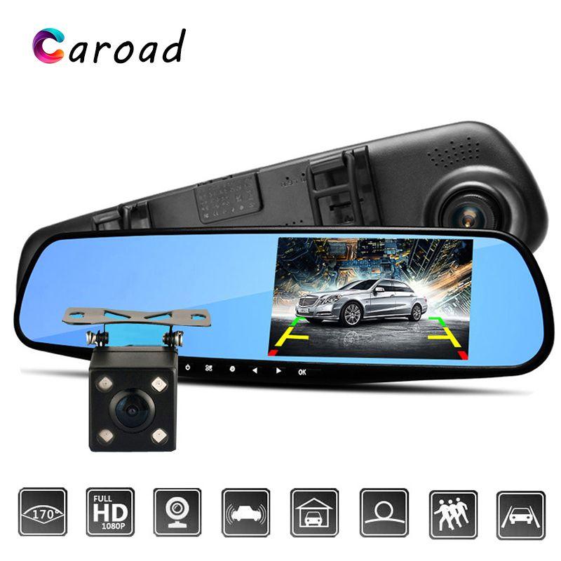 HD 1080P Car Rearview Mirror DVR Dual Lens Video Dash Cam Camera Night Vision Us