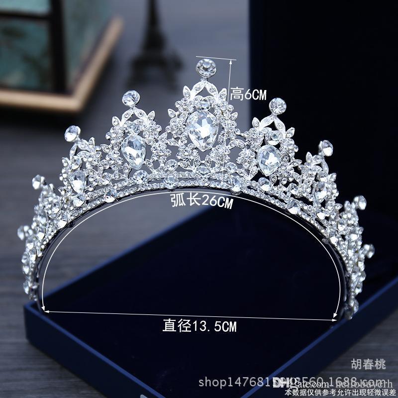 Funkelnde Bling Bling Kristall Strass verziert Braut Krone neue Design Braut Kopfschmuck Top Verkauf Kopf Diademe Zubehör