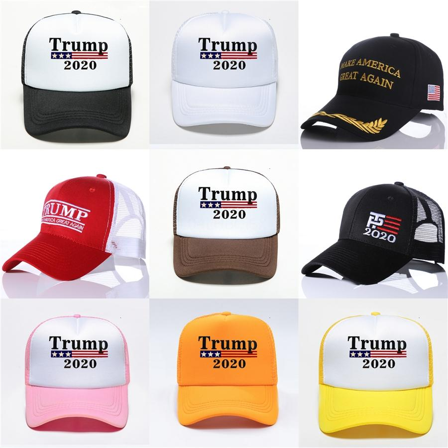 Adult Hat Trump Election Campaigns Cap Red Black White Embroidery Four Seasons Baseball Caps New Arrival 12 5Zg L1 #456
