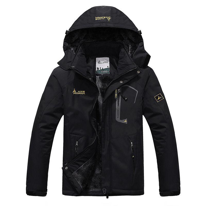 TWTOPSE Winter Men Waterproof Sport Jacket Warm Skiing Snowboarding Cycling Fishing Windproof Hiking Camping Fleece Outdoor Coat