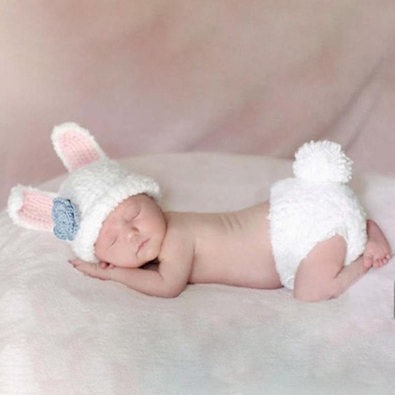 Новорожденный Фотография Одежда Прекрасный Модельный Костюм Акриловые Трикотажные Шорты Цветок Шляпа Наборы Baby Boys Girls Одежда