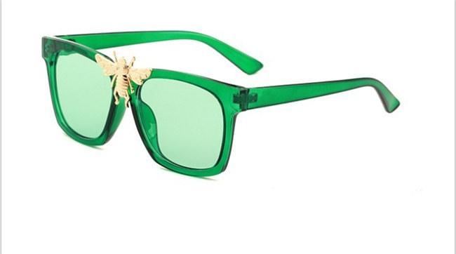 0239 novo e elegante grande abelha decorativo óculos de sol da moda caixa grande óculos de sol elegantes glasses7