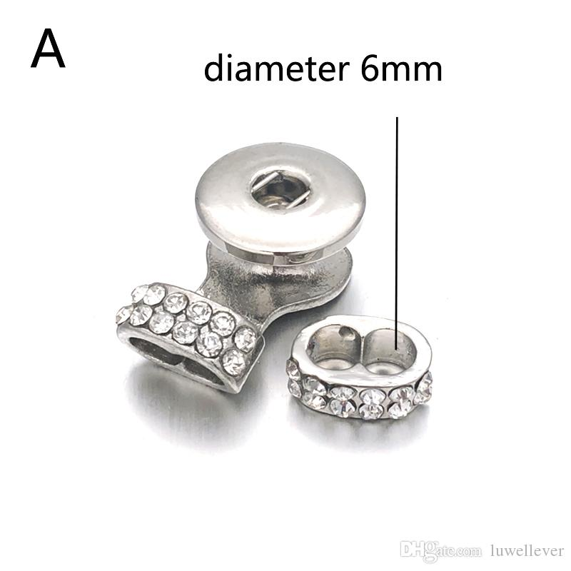 Luwellever 039 مجوهرات النتائج 18mm 12mm Snap Button Components سوار