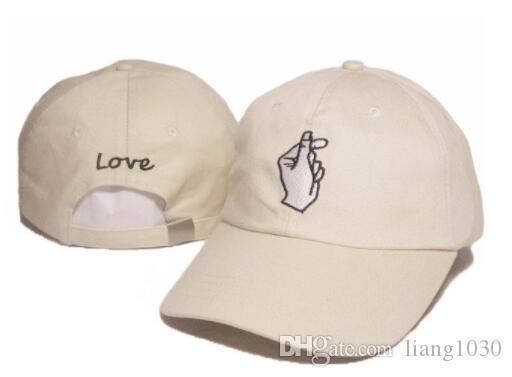 Hot Hysteresenhüte Unisex Hut Korea ulzzang Finger Liebe Herz Caps Nette Frische Frauen Caps Paar Hüte G-Dragon Gleichen Vater Hut