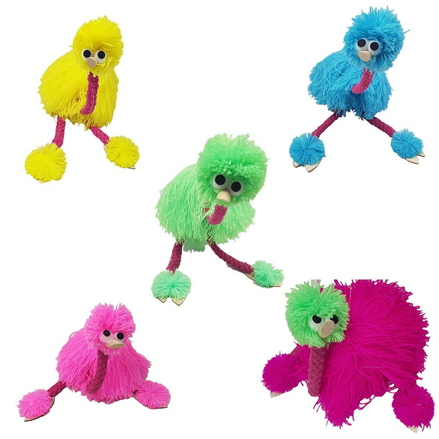 36cm/14inch Decompression Toy Marionette Doll Muppets Animal muppet hand puppets toys plush ostrich Marionette doll for baby 5 colors Z1096
