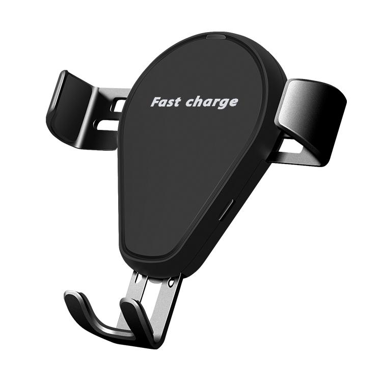 Easy Operation Automatic Clamping QI Standard 7.5w /10w /15w Phone Charger Holder Magnetic Wireless Charger Car Mount C5