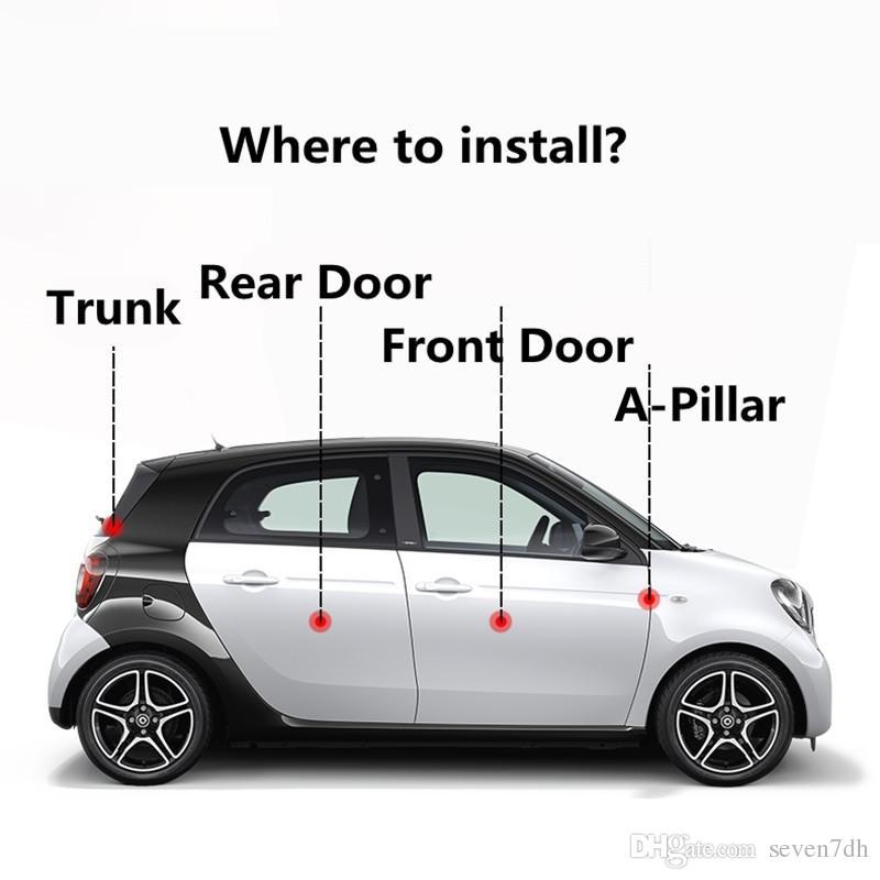 Set Car Door Seal Strips Sticker Weatherstrip Rubber Seals Sound Insulation Sealing For Smart Forfour 2015 2016 2017 2018 Accessories Cute Accessories