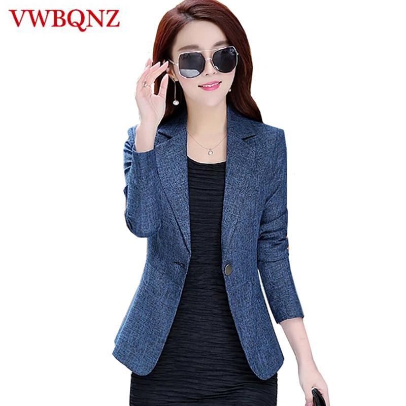 2019 New Spring Autumn Plus Size 4XL Womens Business Suits One Button Office Female Blazers Jackets Short Slim Blazer Women Suit Y190830