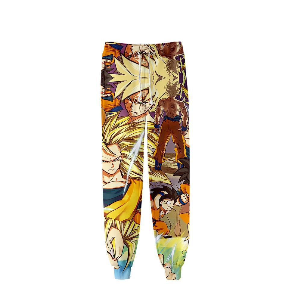 Moda erkekler pantolon Goku anime 3D baskı karikatür pantolon erkek spor rahat Harajuku ayaklar