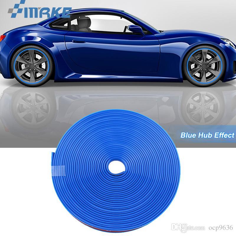 8M Колесо Автомобиля Ступица Обода Края Защитное Кольцо Шины Газа Гвардии Резиновые Наклейки На Автомобилях Синий Автомобиль Стайлинг