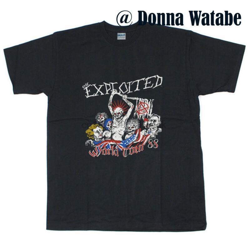 Vintage T-shirt 1988 The Exploited World Tour Nuova Taglia S - 5XL