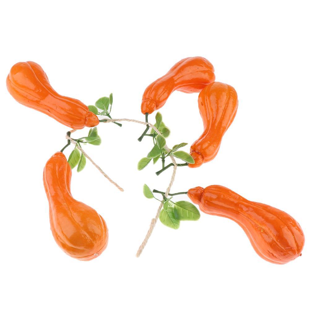 La decoración vegetal artificial realista patata falso Simulación Festival de la calabaza Decoración Hogar Adornos