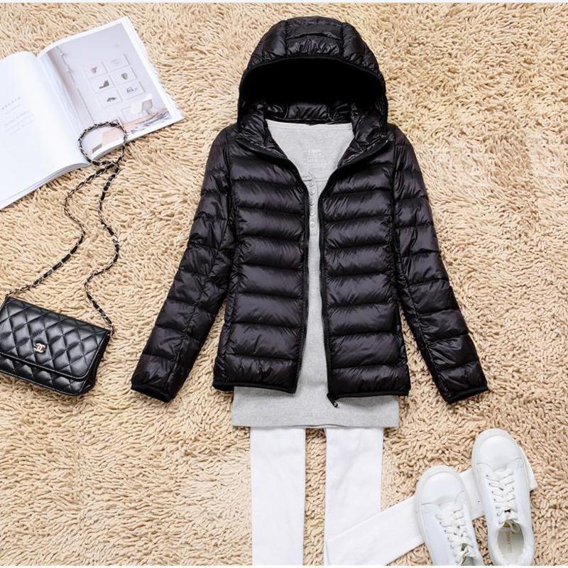 Inverno Plus Size 5XL Womens jaquetas Curto Ultra Duck Luz Brasão de Down com capuz soprador Jacket Autumn Parkas Senhora Roupa V191209