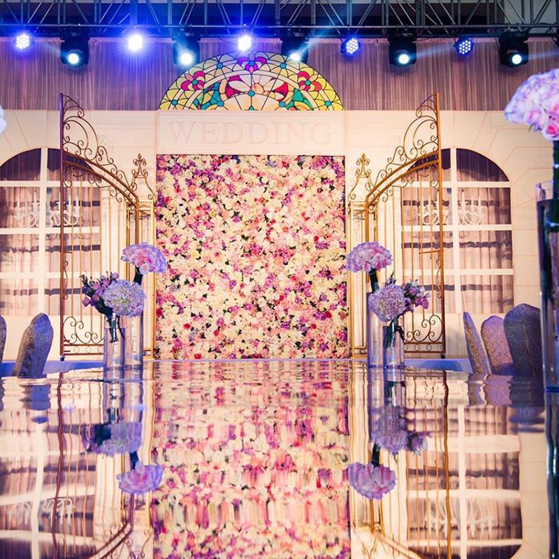 Simulation Flower Wedding Background Flower Wall Shopping Mall Window Decoration Rose Hydrangea Fake Flower Stage Layout Props