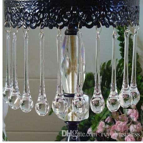 2021 20 80mm Clear Raindrops Crystal, Chandelier Replacement Glass Beads