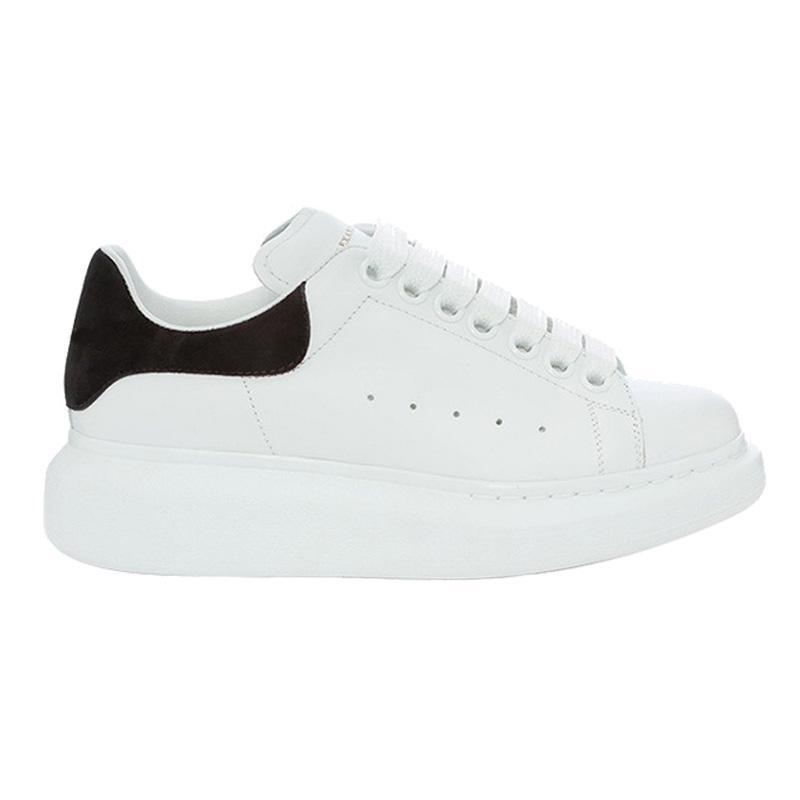 I vari stili dei pattini casuali delle donne Mens Trainers Italia della piattaforma del cuoio scarpe piane Chaussures eccellenti scarpe da ginnastica bianche in pelle di qualità in pelle scamosciata