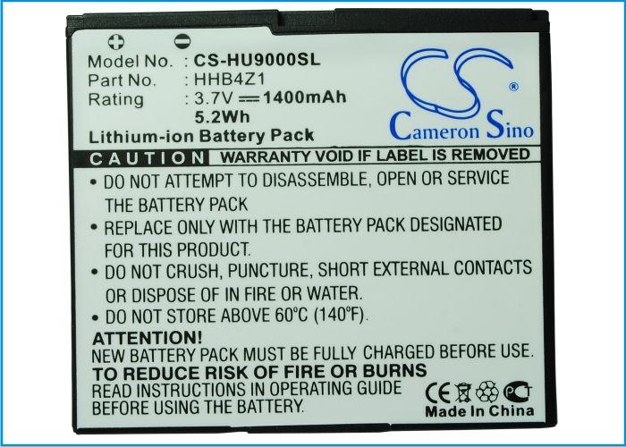 Cameron Sino High Quality 1400mAh Battery HHB4Z1 for Huawei Ascend X, X6, U9000