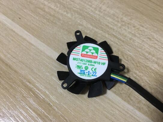 MGT4012MB-W10 HF 12 В 0.09 A четырехпроводной PWM двойной шарик дисплей карты вентилятор