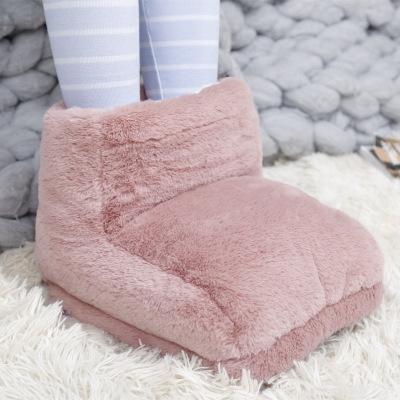 Invierno alta temperatura muy superior Pies Zapatillas USB Calientapiés zapatos PC Ordenador deslizador del calor eléctrico para la seguridad del viaje portátil