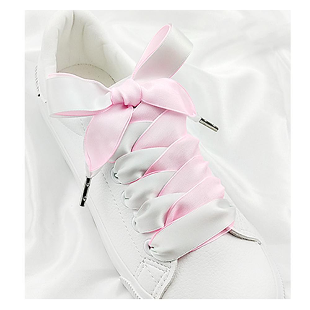 2cm * 120cm ruban satin Lacets Lacets Chaussures plates pour Chaussures de sport