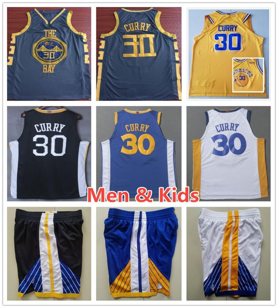 competitive price fe8bc c68cb 2018 Men Youth Kids Sportswear 2019 City Edition 30 Stephen Curry Jerseys  The Town Black White Blue Yellow Stephen Curry Jersey Stitched Child From  ...