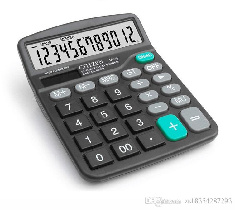 Nouveau 12 Chiffres Énergie Solaire Grand Écran Calculatrice De La Mode Ordinateur De Bureau Finance Spécial Ordinateur Double Alimentation Outil De Calcul