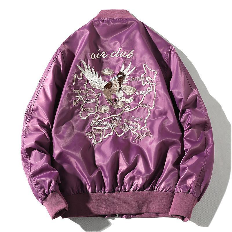 Broderie Blouson Hommes Hip Hop Pilot Jacket Homme Femme Baseball Veste Circaète Homme coupe-vent Printemps Streetwear Jeune