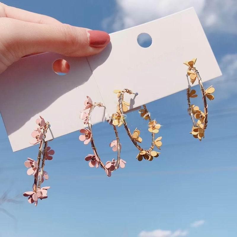 Дешевого обруч Простого цветок Хооп серьга для женщин 2020 Нового Chic Сладких Большого круглого круг серьга Свадьбы ювелирных изделий Bijoux