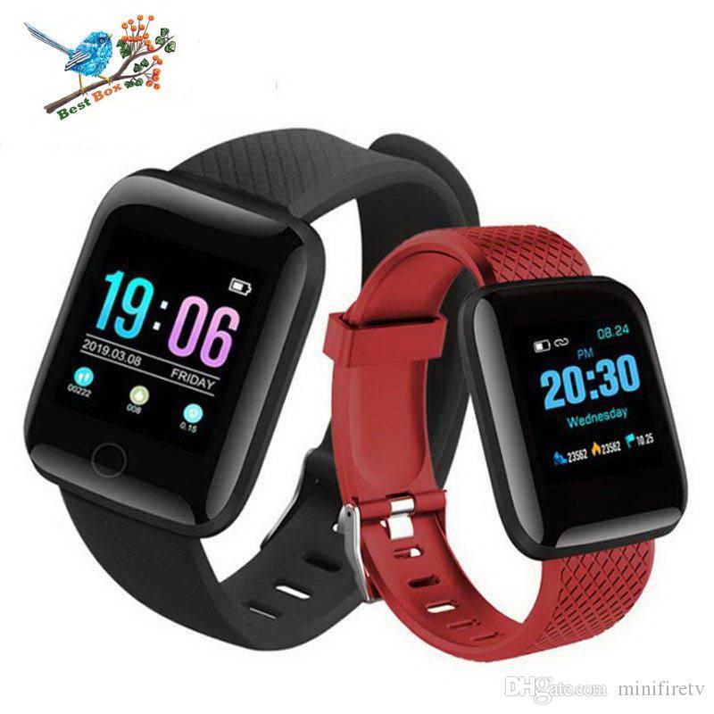 116 Plus Montre intelligente Fitness Tracker Enfants Bracelets Cardiofréquencemètre Compteur d'activité Moniteur Bracelet PK 115 PLUS pour iphone Android