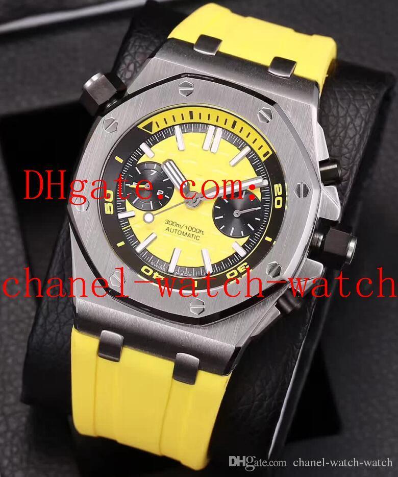 7色最高品質オフショアダイバークロノグラフクォーツメンズウォッチラバーバンド26703st.oo.a070ca.01メンズ腕時計