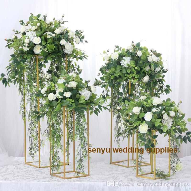 60cm/120cm tall )Lots of stock Floral decoration metal frame wedding stage round mesh backdrop senyu0103
